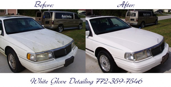 White Glove Mobile Auto Detailing - before and after