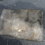 Before - Yes that is a floor mat